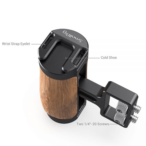 "SmallRig DSLR Camera Hand Universal Grip Wooden Mini Side Handle (1/4""-20 Screws) for Sony Camera or For Nikon Camera etc. 2913"