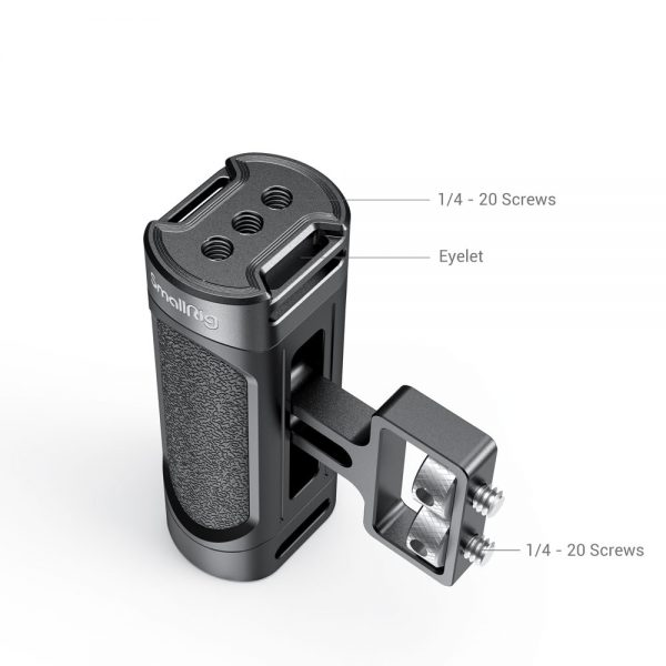 """SmallRig Mini Camera Side Handle with Two 1/4""""-20 Screws and strap eyelet for mirrorless/ digital camera /small cameras 2916"""